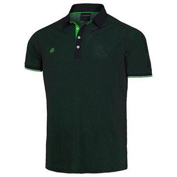 Picture of Galvin Green Mens Marlon Golf Shirt - Black/Green