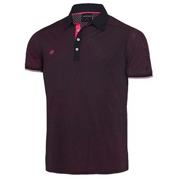 Picture of Galvin Green Mens Marlon Golf Shirt - Black/Pink