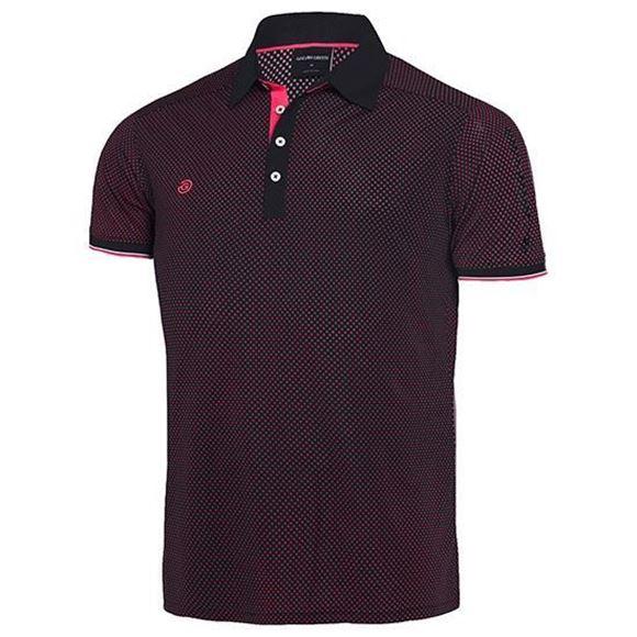 Picture of Galvin Green Mens Marlon Golf Shirt - Black/Pink