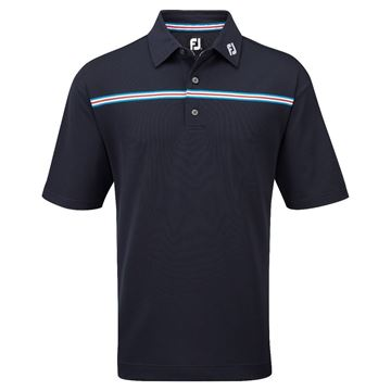 Picture of Footjoy Mens Stretch Pique Chest Stripe Self Collar Shirt 91739