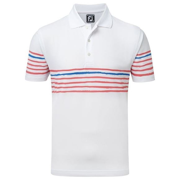 Picture of Footjoy Mens Stretch Pique Chest Stripe Polo Shirt 91985