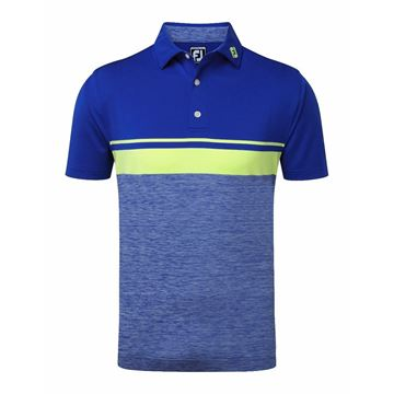 Picture of Footjoy Mens Lisle Colour Block Polo Shirt - 91965
