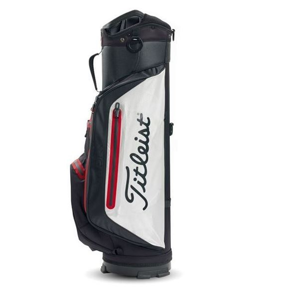 Picture of Titleist StaDry Lightweight Cart Bag - Black / White / Red
