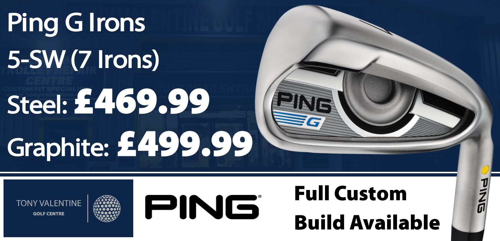 Ping G Irons - Custom Fit