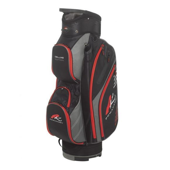 Picture of Powakaddy Deluxe Edition Cart Bag 2018 - Black/Gunmetal/Red