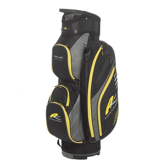 Picture of Powakaddy Deluxe Edition Cart Bag 2018 - Black/Gunmetal/Yellow