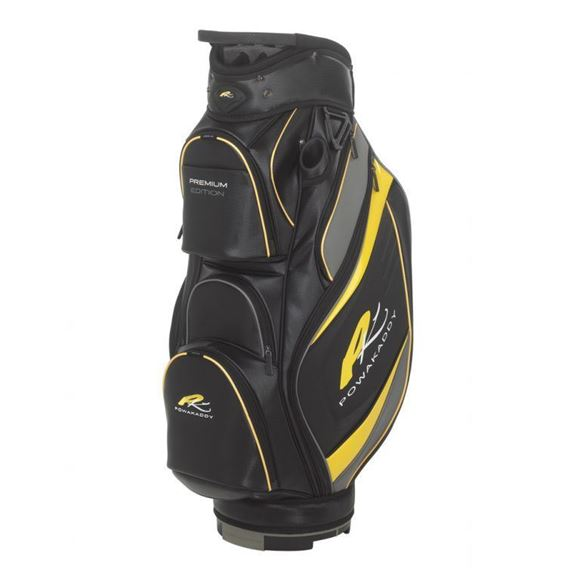 Picture of Powakaddy Premium Edition Cart Bag 2018 - Black/Gunmetal/Yellow