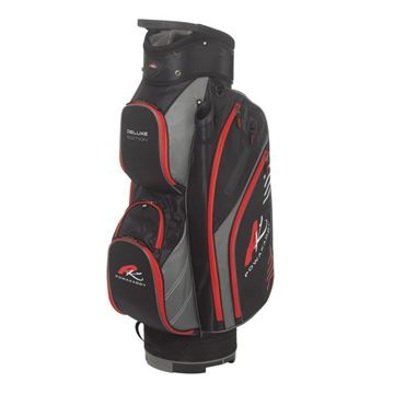 Picture of Powakaddy Premium Edition Cart Bag 2018 - Black/Gunmetal/Red