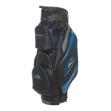Picture of Powakaddy Premium Edition Cart Bag 2018 - Black/Gunmetal/Blue