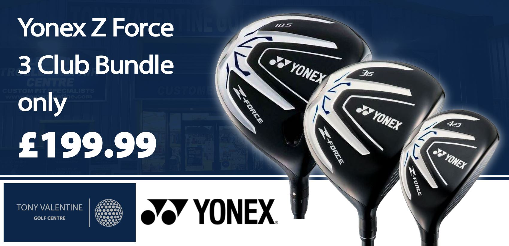 Yonex Z Force 3 Club Bundle