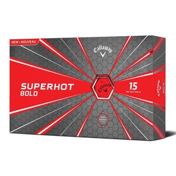 Picture of Callaway Superhot Bold Golf Balls - 15 Ball Pack - Red
