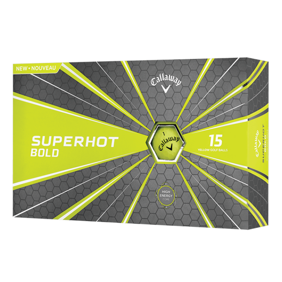 Picture of Callaway Superhot Bold Golf Balls - 15 Ball Pack - Yellow