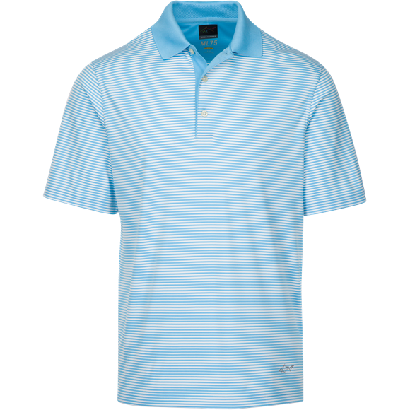 Picture of Greg Norman Technical Performance Polo Shirt - Caribbean Blue KX59