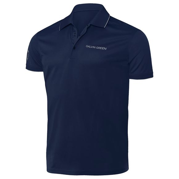 Picture of Galvin Green Mens Marty Golf Shirt - Navy / White
