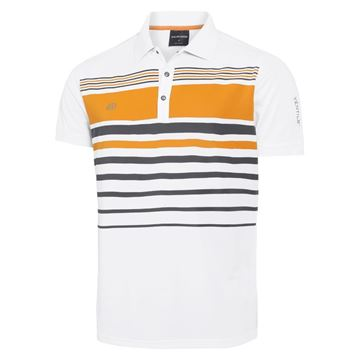 Picture of Galvin Green Mens Mayer Golf Shirt -  White / Orange