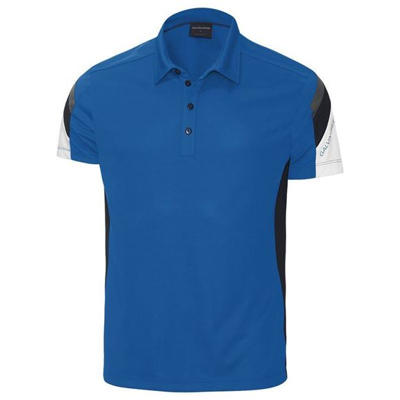 Picture of Galvin Green Mens Merlin Golf Shirt - Kings Blue