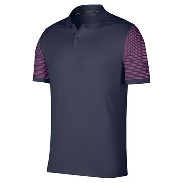 Picture of Nike Golf Dri-Fit Pique Polo - Grey/Pink