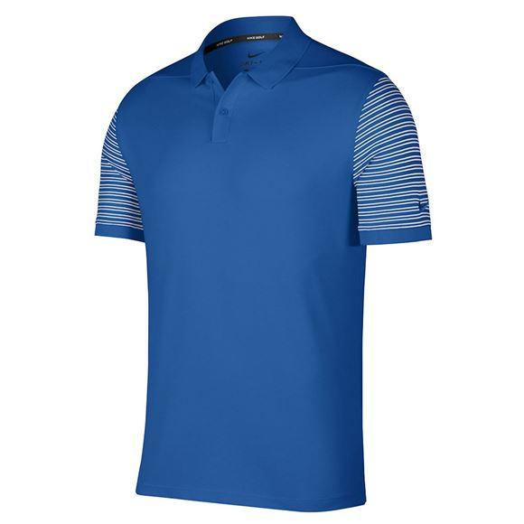 Picture of Nike Golf Dri-Fit Pique Polo - Blue/White