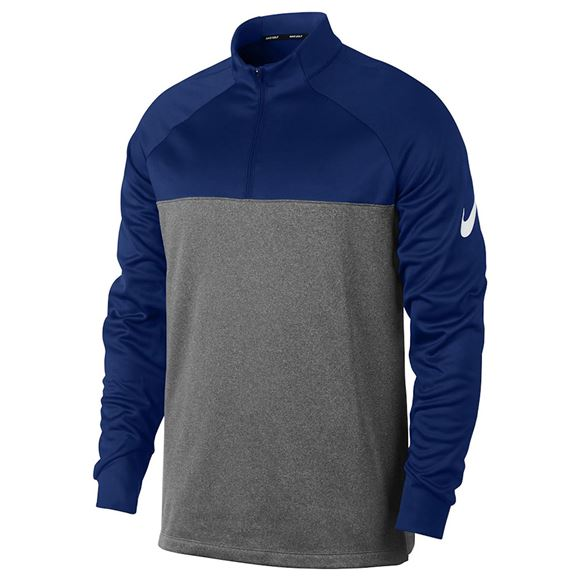 Picture of Nike Golf Thermo Core 1/4 Zip Pullover - Grey/Navy