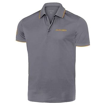Picture of Galvin Green Mens Marty Golf Shirt - Iron Grey / Orange