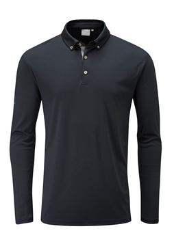 Picture of Ping Mens Flynn Long Sleeve Polo Shirt - Black