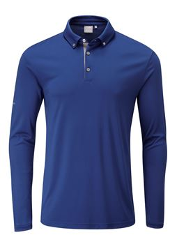 Picture of Ping Mens Flynn Long Sleeve Polo Shirt - Midnight
