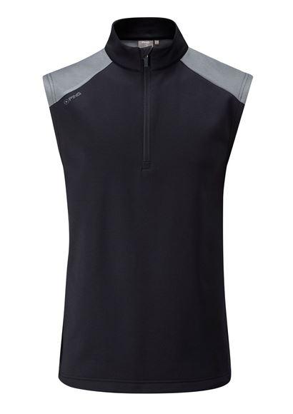 Picture of Ping Mens Austin Vest - Black/Grey