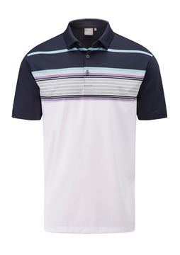 Picture of Ping Mens Harper Polo Shirt - White/Navy