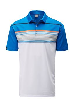 Picture of Ping Mens Harper Polo Shirt - White/Blue