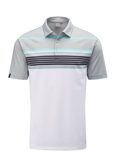 Picture of Ping Mens Harper Polo Shirt - White/Silver