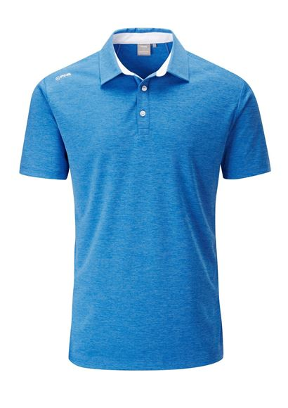 Picture of Ping Mens Harrison Heather Polo Shirt - Blue