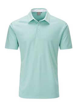 Picture of Ping Mens Harrison Heather Polo Shirt - Seafoam