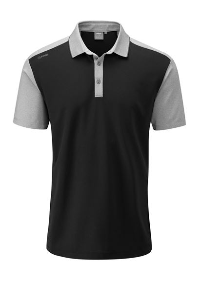 Picture of Ping Mens Quinn Polo Shirt - Black/Silver