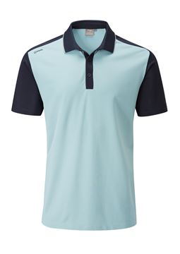 Picture of Ping Mens Quinn Polo Shirt - Celestial/Navy