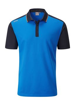 Picture of Ping Mens Quinn Polo Shirt - Imperial Blue/Navy
