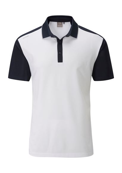 Picture of Ping Mens Quinn Polo Shirt - White/Navy