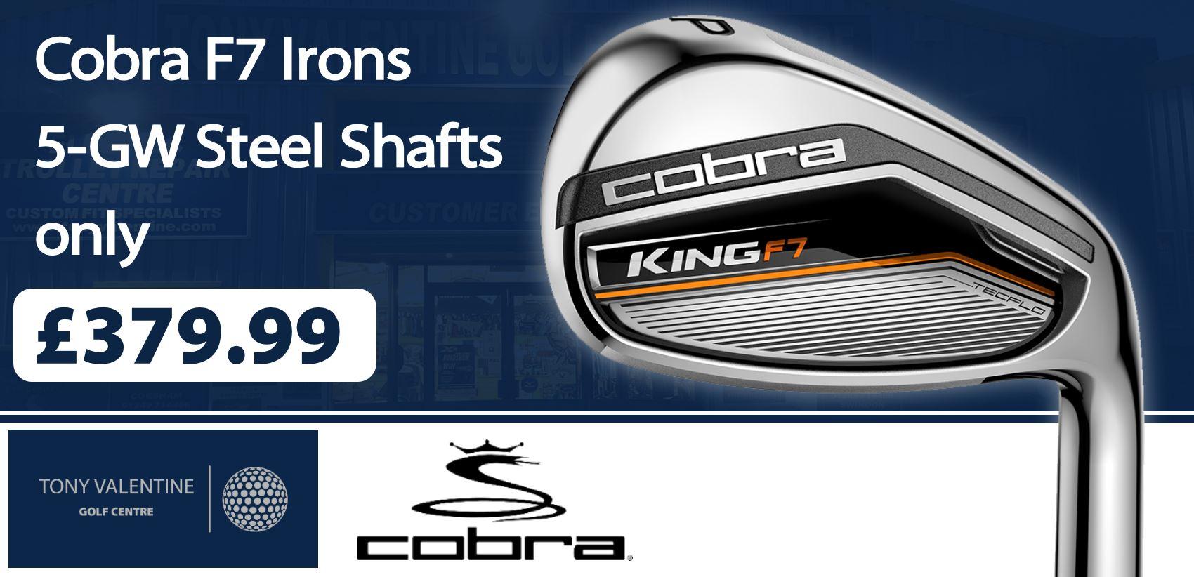 Cobra F7 Irons £349.99