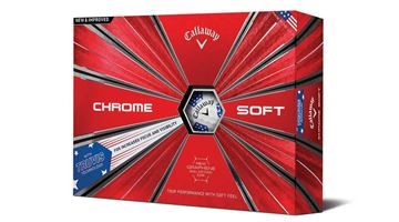 Picture of Callaway Chrome Soft Truvis Golf Balls 2018 USA Stars & Stripes