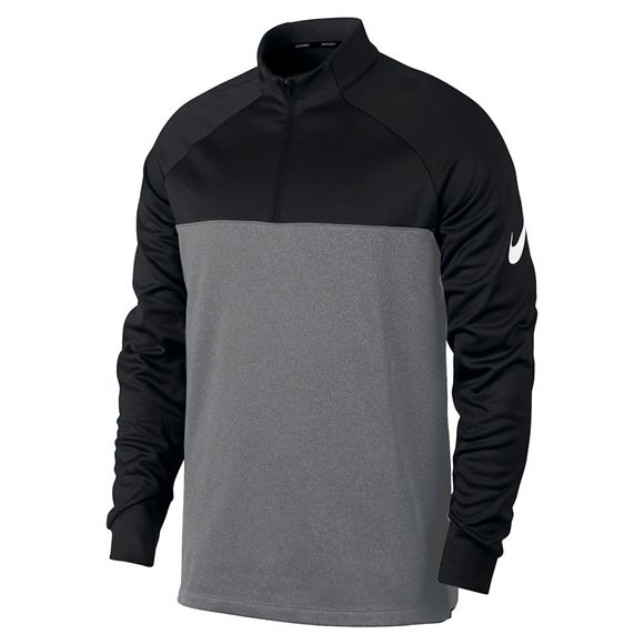 Picture of Nike Golf Thermo Core 1/4 Zip Pullover - Grey/Black