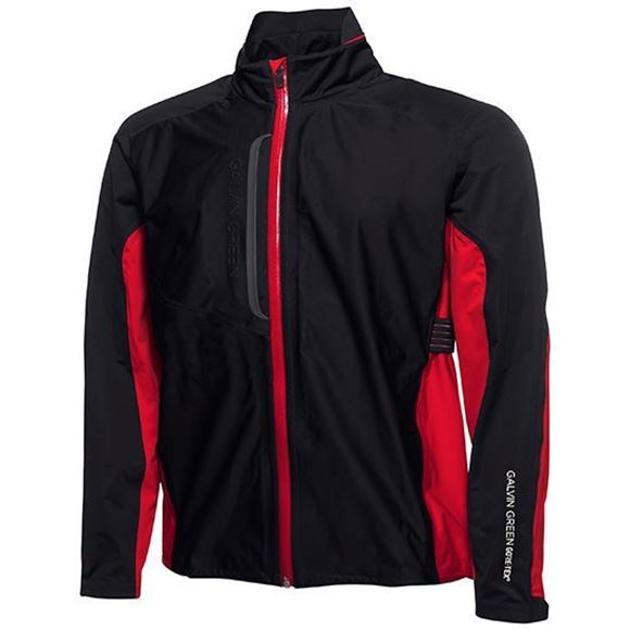 Picture of Galvin Green Mens Al Waterproof Jacket - Black/Red