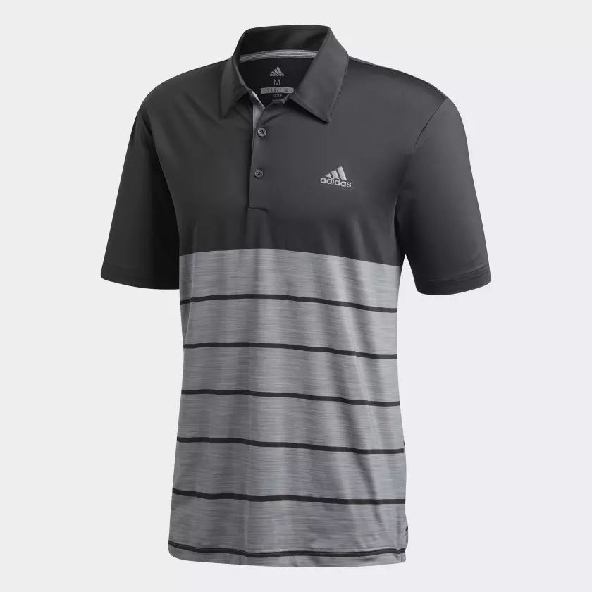 9226cd78200d Picture of Adidas Mens Ultimate 365 Heather Block Polo Shirt - Black Grey