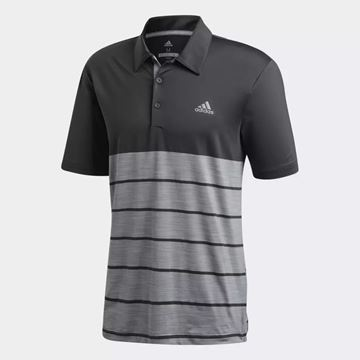 Picture of Adidas Mens Ultimate 365 Heather Block Polo Shirt - Black/Grey