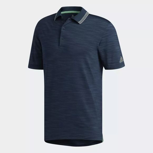 Picture of Adidas Mens Ultimate 365 Heather Polo Shirt - Navy