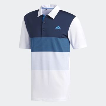 Picture of Adidas Mens Ultimate 365 Gradient Polo Shirt - White/Blue