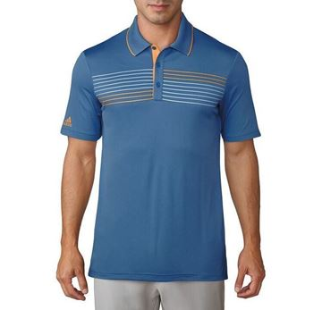 Picture of Adidas Mens Essentials Textured Polo Shirt - Blue