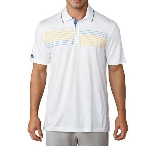 Picture of Adidas Mens Essentials Textured Polo Shirt - White