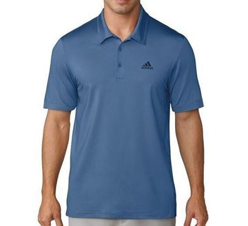 Picture of Adidas Mens Ultimate 365 Solid Polo Shirt - Blue