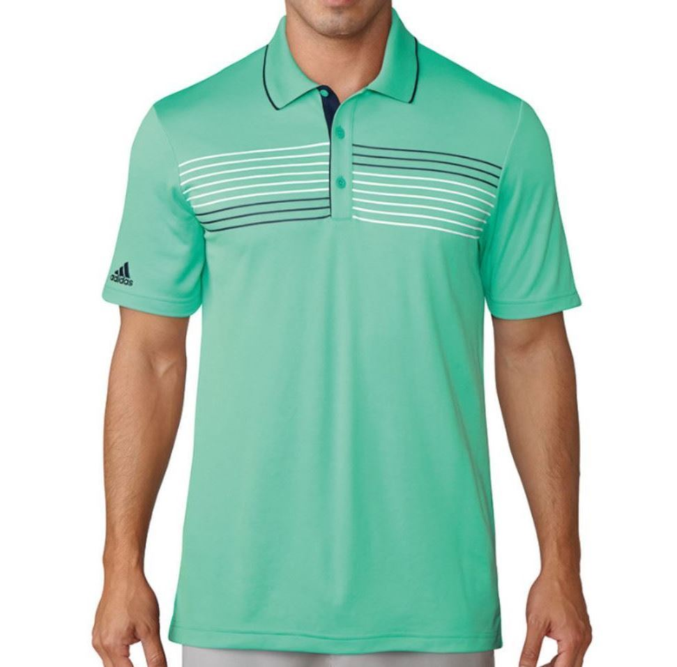 low priced 0415f 94980 Adidas Mens Texture Tipped Climacool Polo Shirt - Green