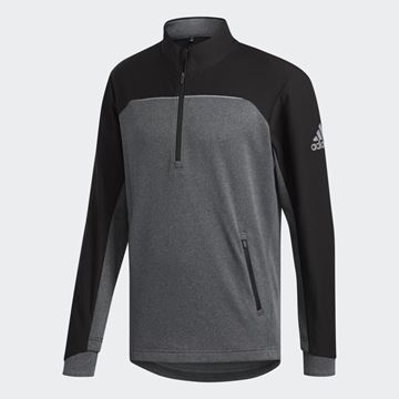 Picture of Adidas Mens Go-To Adapt 1/4 Zip Pullover - Black