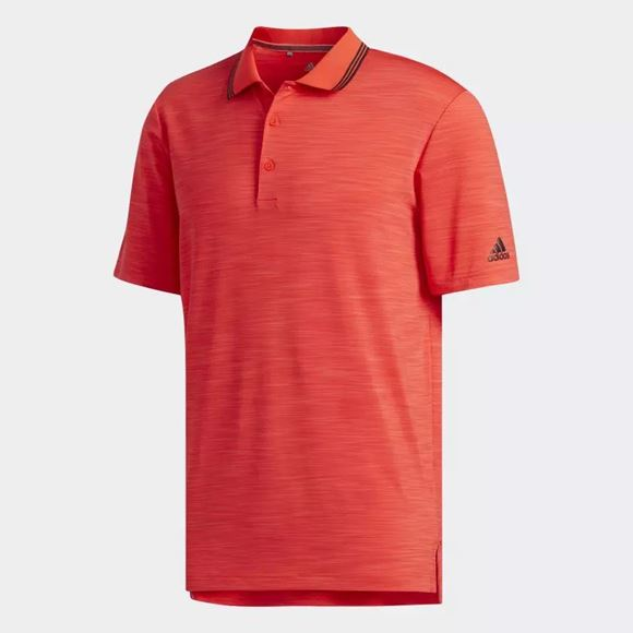 Picture of Adidas Mens Ultimate 365 Heather Polo Shirt - Red